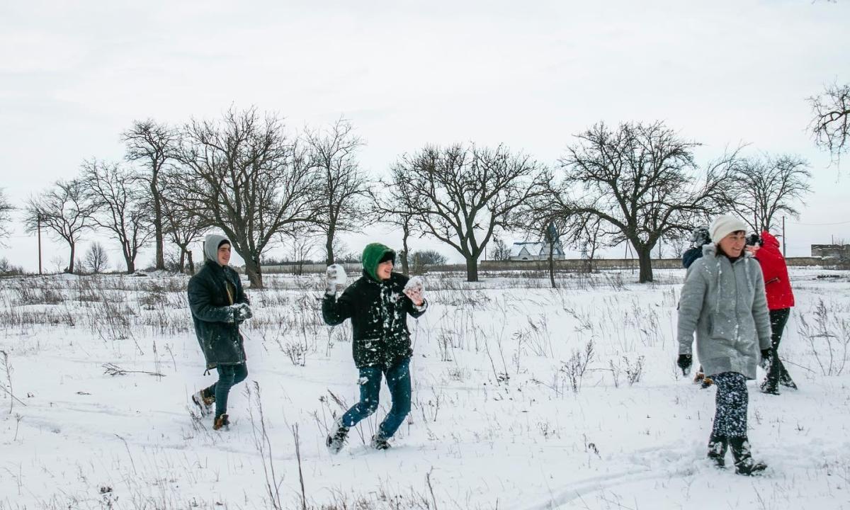 Снегопад!